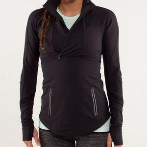 Lululemon Run Reflect Quarter-zip Pullover Black